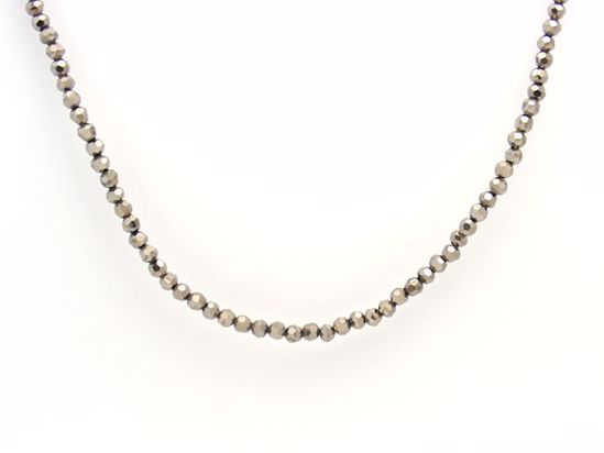 Picture of Dazzling Black Haematite Round Beads String Necklace