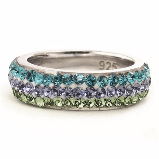 Picture of Sterling Silver Multi Colour Band Ring