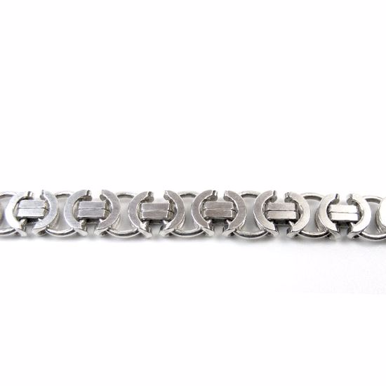 Picture of Sterling Silver Plain Link Bracelet 8 inch length Lobster clasp