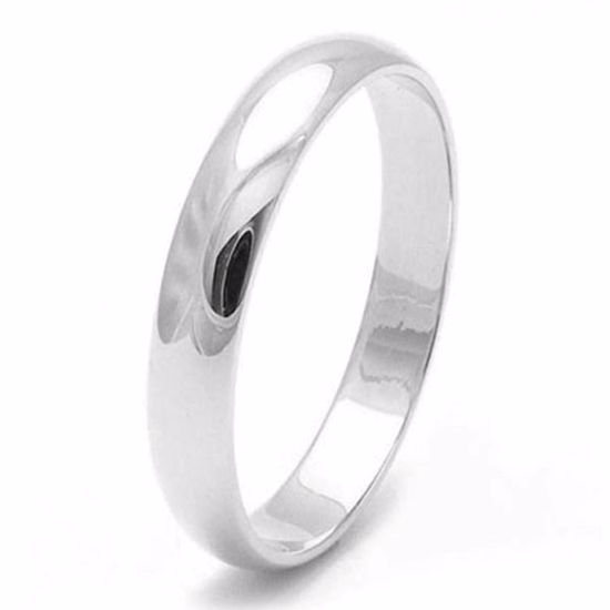 Picture of Sterling Silver 3mm D Shape Wedding Ring