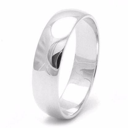 Picture of Sterling Silver 5mm D Shape Wedding Ring
