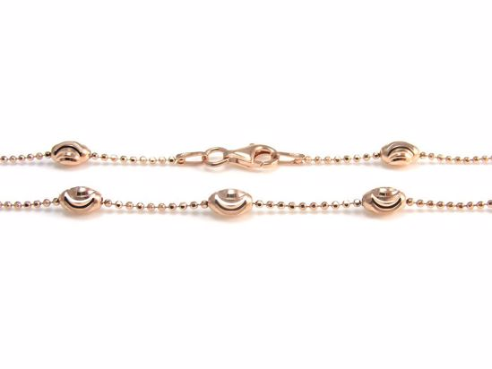 Picture of Silver Rose Gold Diamond Cut Beads Ball Chain