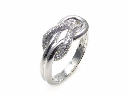 Picture of Round CZ Cluster Ring in Sterling Silver