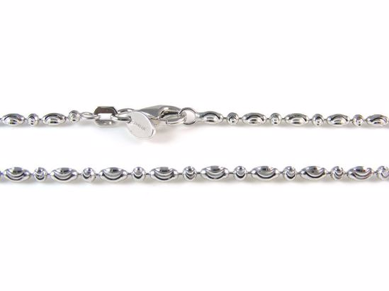 Picture of Silver Diamond Cut Ball & Capsule Beads Chain