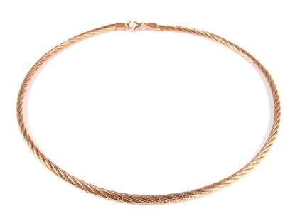 Picture of Silver Rose Gold Plated Diamond Cut Rope Chain Necklace Chain