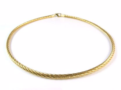 Picture of Silver Yellow Gold Plated Diamond Cut Rope Chain Necklace Chain