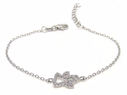 Picture of Sterling Silver Penguin Shape Chain Bracelet Rhodium Plated