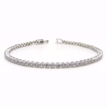 Picture of Sterling Silver Clear CZ Tennis Bracelet 7 inch length